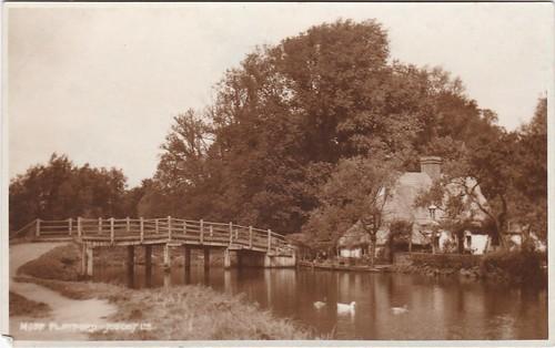 Flatford Bridge, Colchester, Vintage Postcard