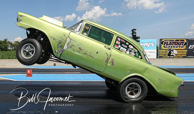 55 Chevy Gasser Wheelie