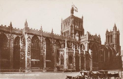Bristol Cathedral - Vintage Postcard
