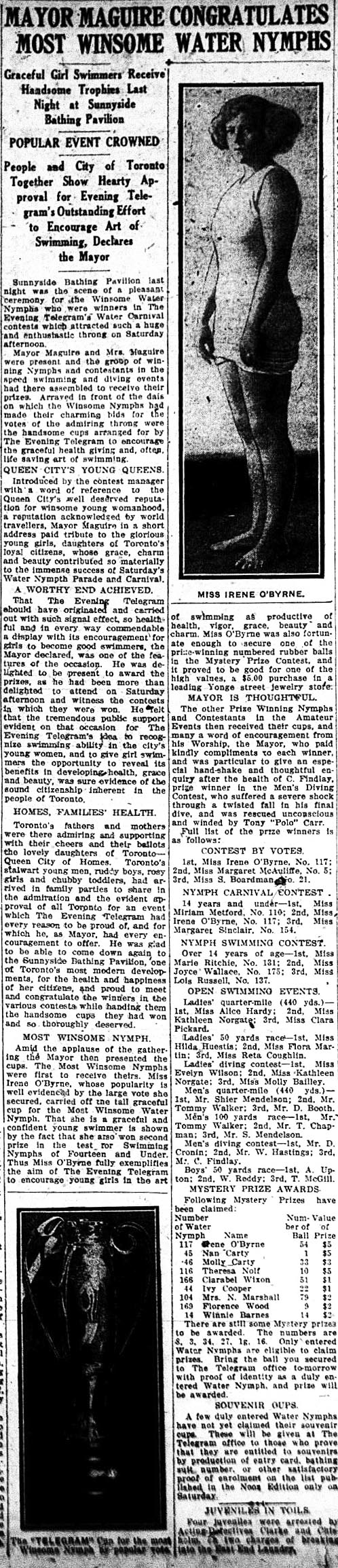 tely 1923-08-21 mayor congratulates water nymphs