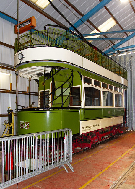 53 Tram in Workshop at Summerlee, Coatbridge