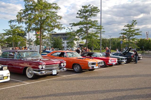 Das US Car Treffen am Burger King in Offenburg