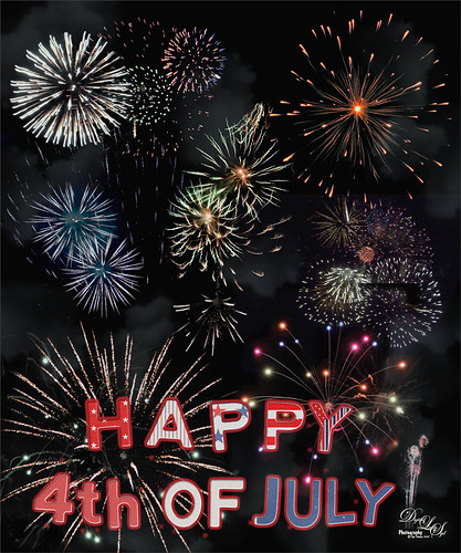 Happy 4th of July image of fireworks