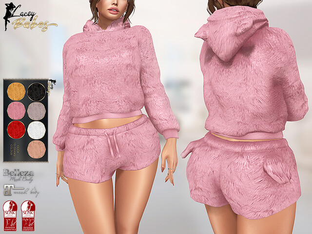 LB – Fluffy Loungewear (7 Colours HUD) *MATERIALS ENABLED*