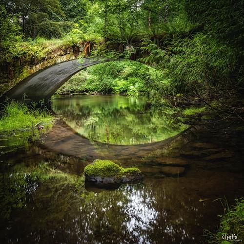 bridge britishcolumbia creek landscape millbay reflections shawnigancreek stonebridge vancouverisland