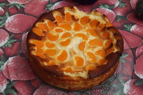 Käsekuchen mit Mandarinchen (noch ganz)