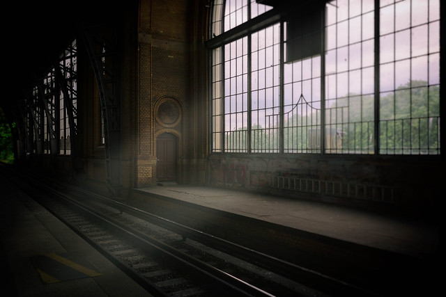 A quiet afternoon at the train station