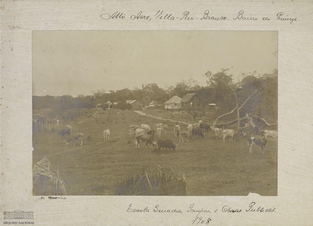 Escola Senador Pompeu e obras públicas, Alto Acre, Rio Branco, 1908