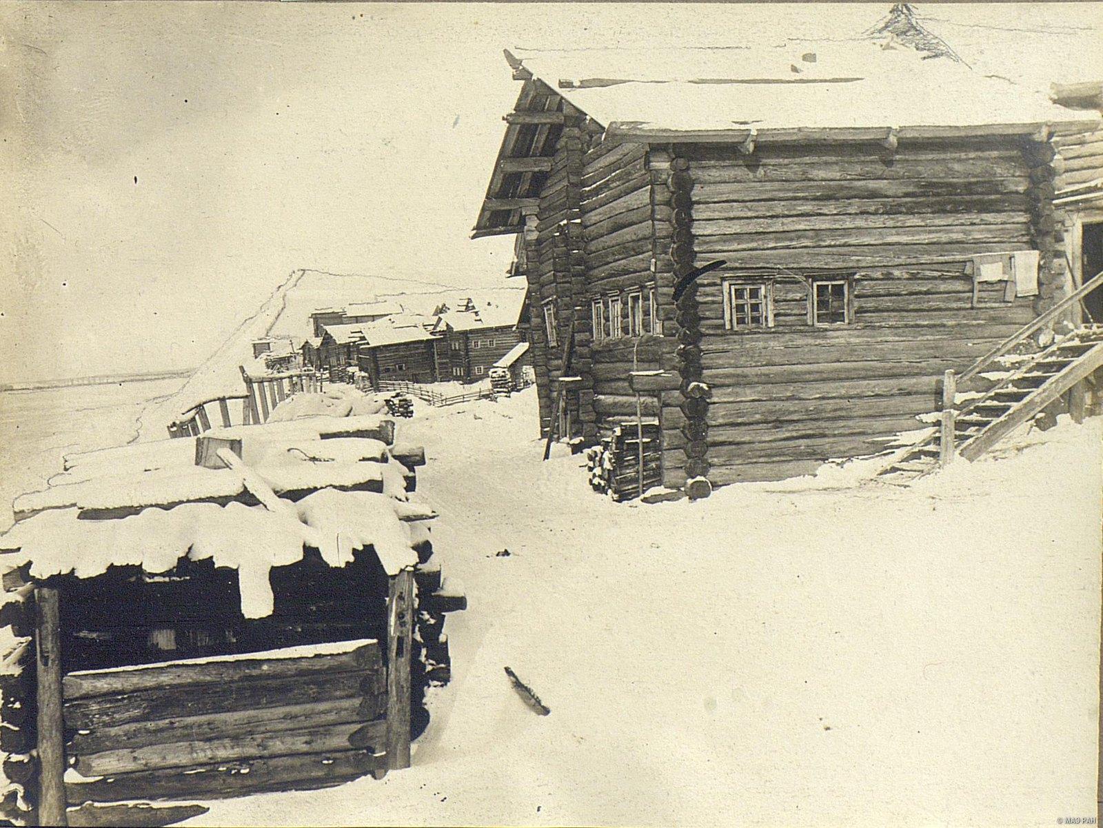 Мезень.  Типичный дом мезенского крестьянина средней зажиточности