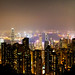 Hong Kong skyline at night view from Victoria peak.