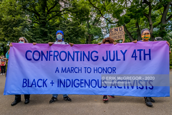 CONFRONTING JULY 4TH: A MARCH TO HONOR BLACK AND INDIGENOUS ACTIVISTS
