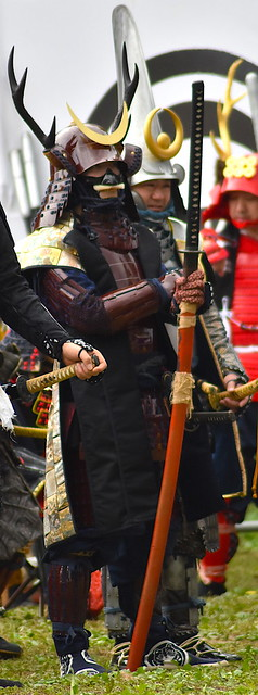 Samurai with a Nodachi at Minowa Castle Festival
