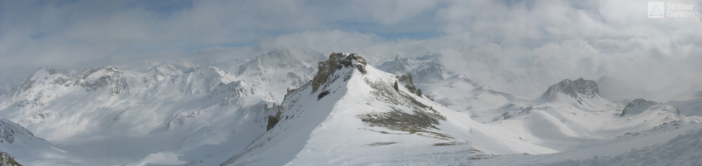 Piz Surgonda Albula Alpen Švýcarsko panorama 09