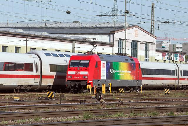DB 101 098 Basel Badischer Bahnhof