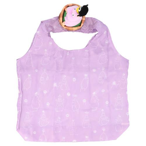 把吉卜力萌寵背在肩上的創意設計~橡子共和國《天空之城》、《神隱少女》絨毛布偶造型單肩環保袋(肩のせエコバッグ)