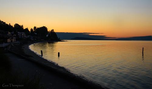 light colour water beach sundown
