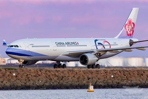 sydney newsouthwales australia chinaairlines dynasty cal ci syd yssy sydneyairport airbus a333 a330