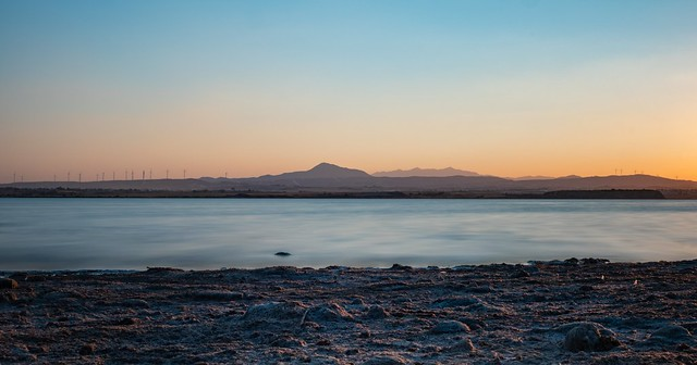 Larnaca salt lake before golden hour