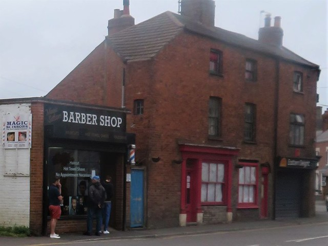 Magic Scissors Barbers Oakham Rutland Saturday 4th July 2020 First Day Of Covid-19 Lock down easing Bars, Barbers, Salons, Restaurants and Coffee Shops Open