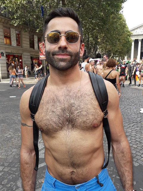DAMN HOT , HAIRY & HUNKY HUNK ! ~ HAPPY PRIDE ! PHOTOS of PAST PRIDE PARADES ! (Paris 2018) (safe photo)
