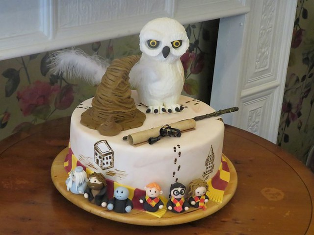 Harry Potter Cake Kavanagh's Tea Room Oakham Rutland Saturday 4th July 2020 First Day Of Covid-19 Lock down easing Bars, Barbers, Salons, Restaurants and Coffee Shops Open