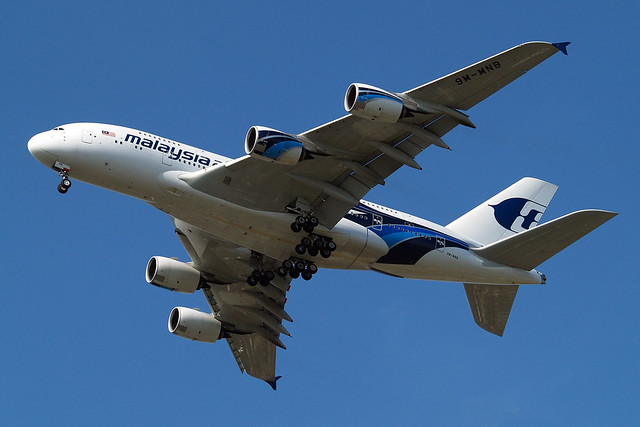 9M-MNB   Airbus A380-841 [081] (Malaysia Airlines) Home~G 03/05/2013