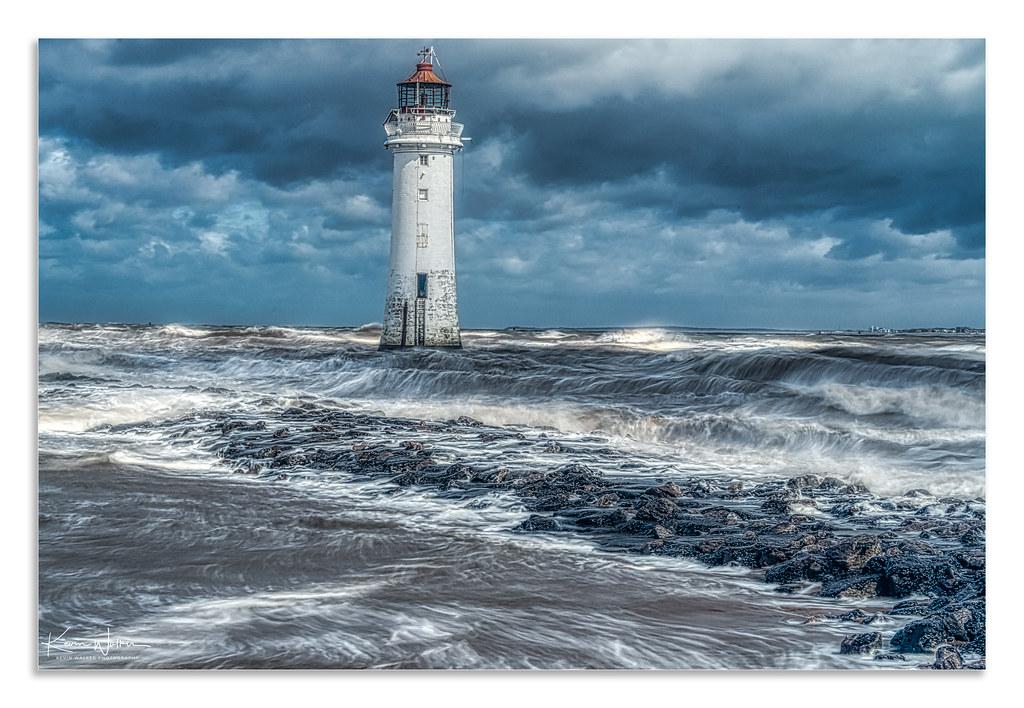 New Brighton Lighthouse  Wirral  UK  Sea  Beach  Coast  Wall Art  Landscape  Coastal