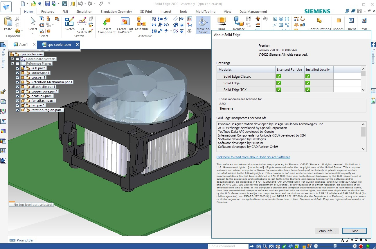 Working with Siemens Solid Edge 2020 MP08 full license