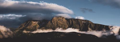 mountain sunset landscape clouds nikon d3400 snow rocks green matte flat woods forest france alps northface nikkor outside europe nature high