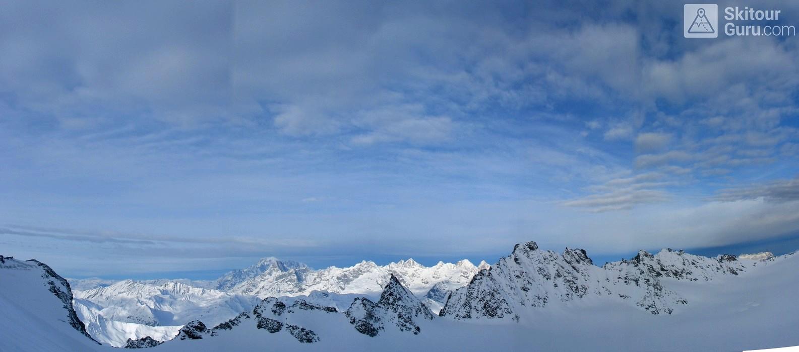 Grand Combin Walliser Alpen / Alpes valaisannes Schweiz panorama 23