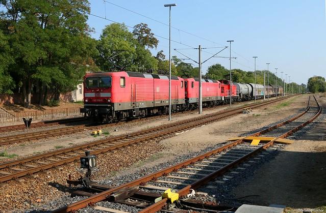 143 959-5 und 143 038-8 in Schwedt (Oder)