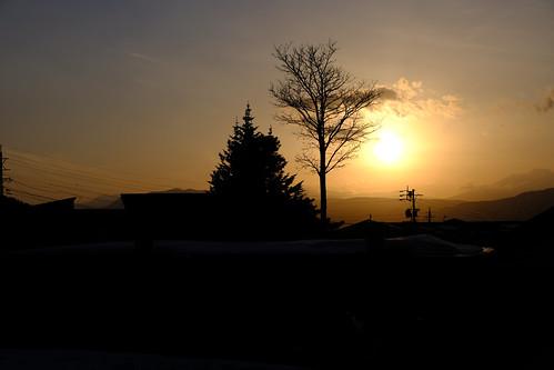 japan nozawa nozawaonsen sunset