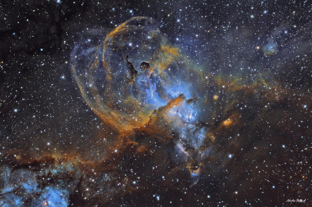 NGC 3576 - Statue of Liberty Nebula (SHO)