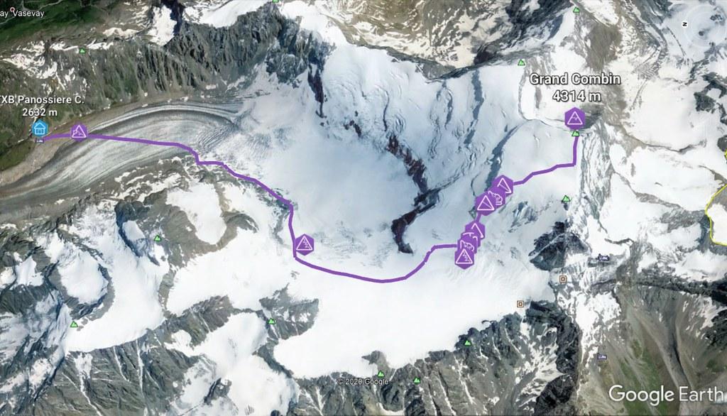 Grand Combin Walliser Alpen / Alpes valaisannes Schweiz foto 01