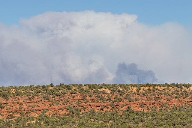 Mangum Spring Fire in the distance