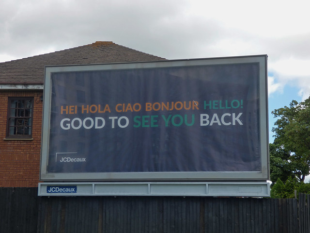 Stratford Road, Shirley - Good to see you back billboard