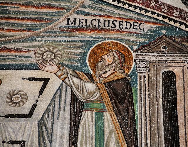 Melchizedek, king of righteousness - Basilica di San Vitale, Ravenna, Italy.