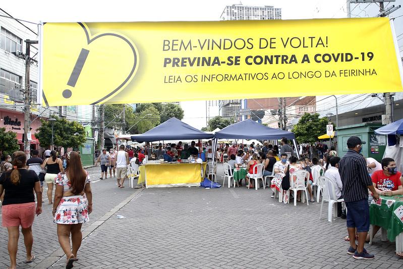 05.07.20. Reabertura da feira da avenida Eduardo Ribeiro, que tem o apoio da Prefeitura de Manaus