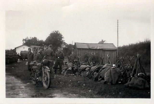 WWII, German Soldiers, Equipment, Helmets, Packs, Rifles