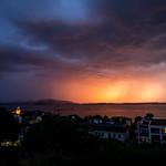 1. Juuli 2020 - 21:20 - Regenwolken und Abendrot