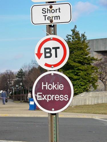 Blacksburg Transit sign