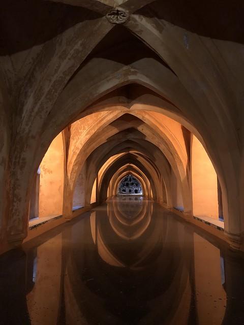 The Royal Baths of Lady Maria de Padilla beneath the Patio de Curcero.