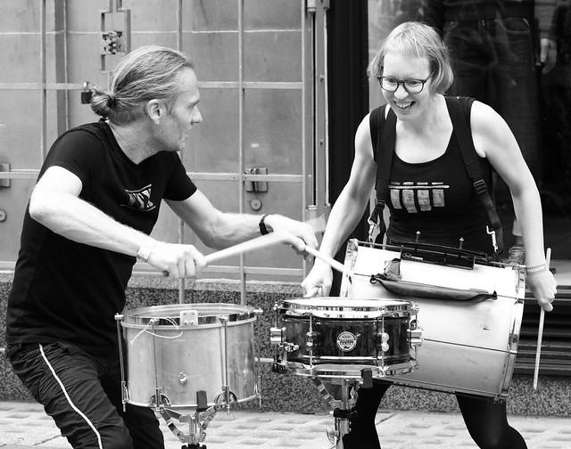 Street drummers, Glasgow.  (IMG_9964)