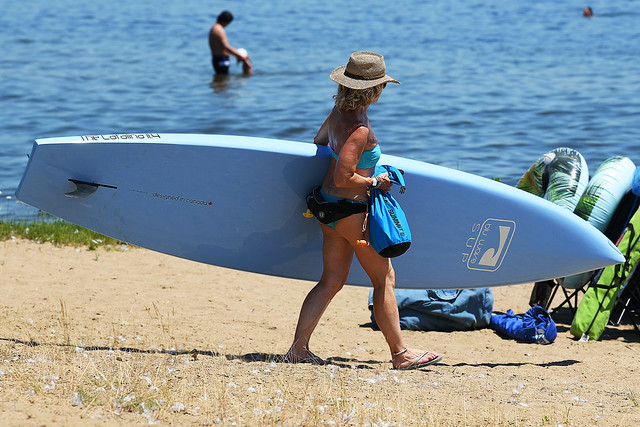 Woman and Her Board