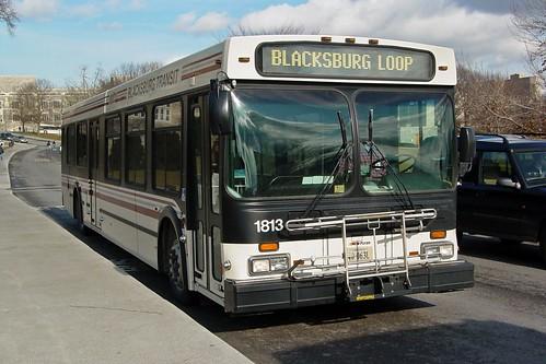 Blacksburg Transit bus 1813