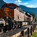 BNSF Train through Skykomish