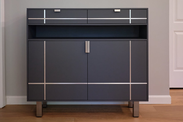 DIY Modern Sideboard with Metal Accents