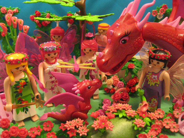 The Pink Faeries say Goodbye to the Pink Dragon Baby, but Just for Today