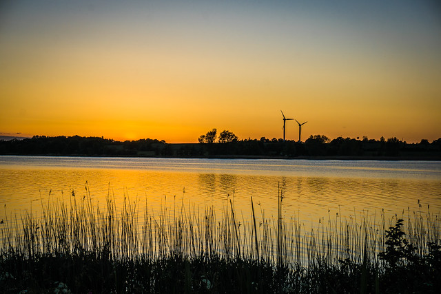 Sonnenuntergang in Sieseby