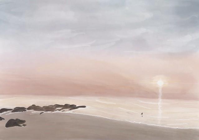 Sunrise at Coquina Beach